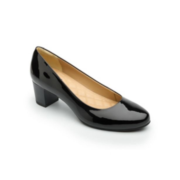 Oferta de Zapato De Tacón De Vestir Flexi Con Brillo Charol Para Mujer - Estilo 47401 Negro por $399.5