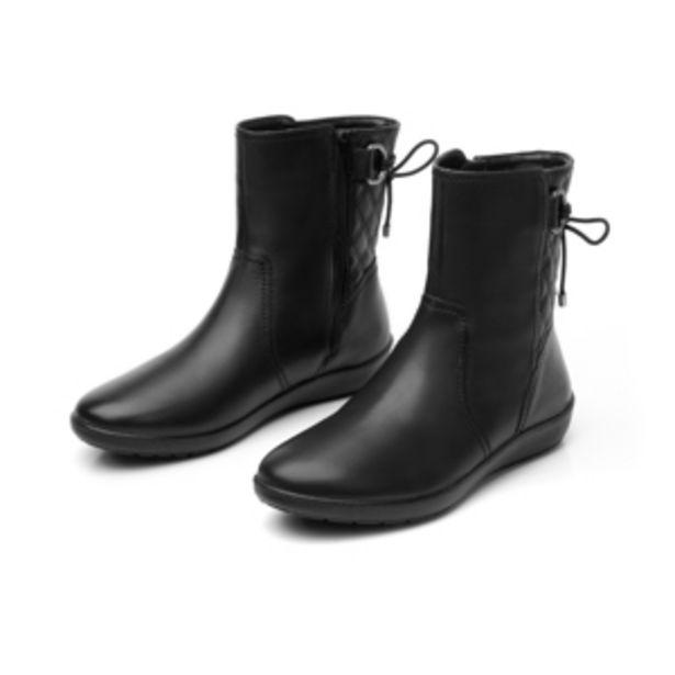 Oferta de Bota Corta Con Detalle De Agujetas Flexi para Mujer con Sistema Walking Soft Estilo 101907 Negro por $499.5