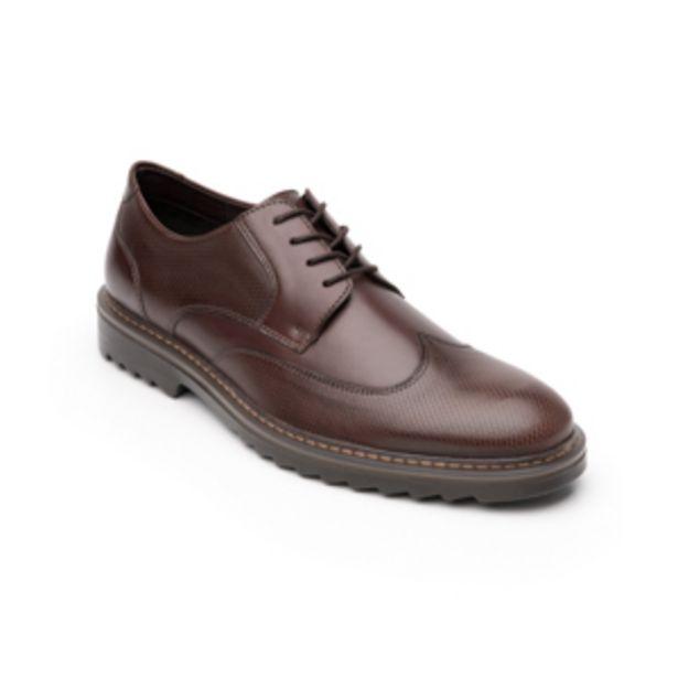 Oferta de Zapato Casual Urbano Flexi Con Puntera Texturizada  Para Hombre - Estilo 402702 Nogal por $499