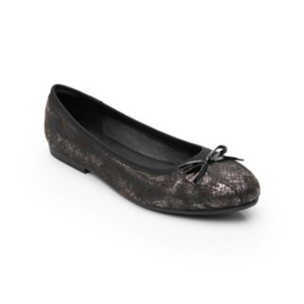 Oferta de Ballerina De Víbora Flexi para Mujer con Sistema Comfort Flat Estilo 47315 Negro por $389.4