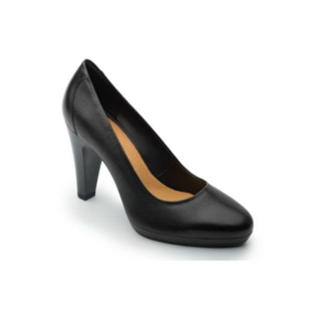 Oferta de Zapato De Tacón Para Oficina Flexi Con Micro Perforados Para Mujer - Estilo 33604 Negro por $424.5