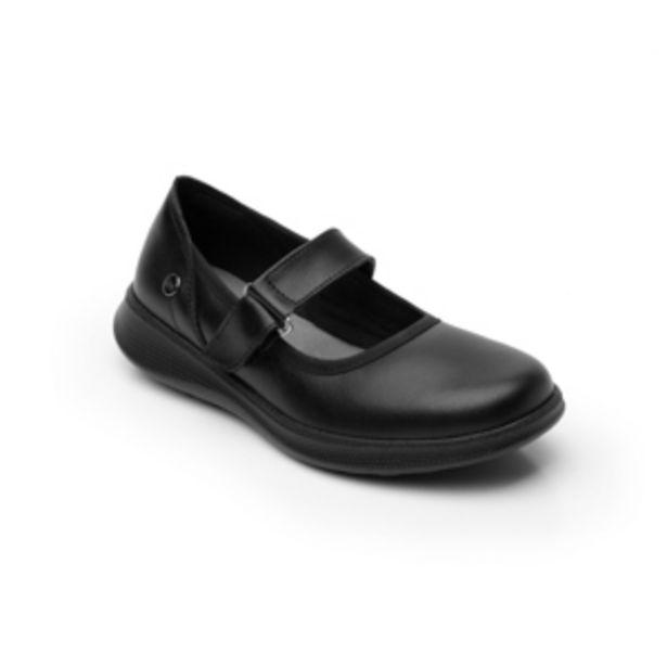Oferta de Zapato Escolar Flexi con Velcro y Suela Extra Ligera para Niña Estilo 103902 Negro por $419.3