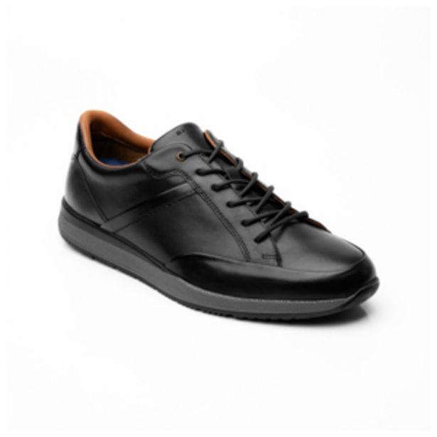 Oferta de Sneaker Urbano Floreta Quirelli para Hombre con Plantilla Exafoam Estilo 700606 Negro por $1119.2