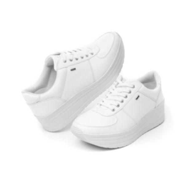 Oferta de Sneaker De Plataforma Flexi para Mujer con Suela Gruesa Estilo 101001 Blanco por $899