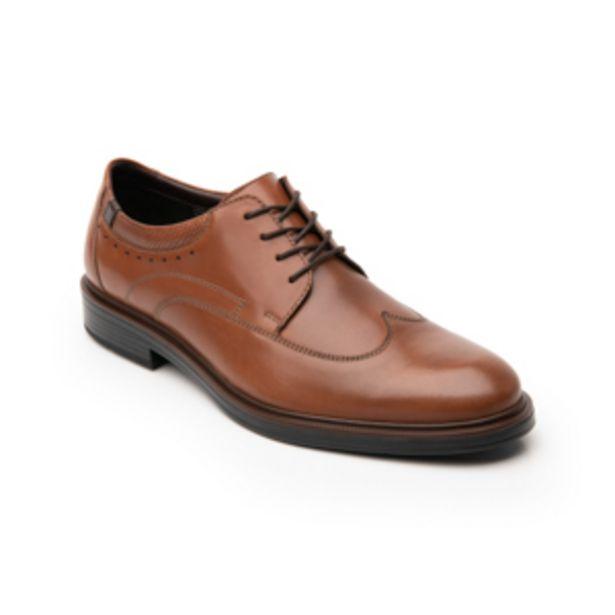 Oferta de Zapato Bostoniano Flexi para Hombre con Agujetas Estilo 400109 Tan por $599.4