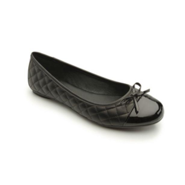 Oferta de Flat Casual Flexi Textura Capitonada Para Mujer - Estilo 21210 Negro por $649