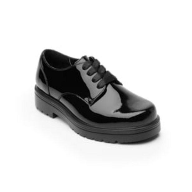 Oferta de Zapato Escolar Flexi Oxford Charol con Agujetas y Suela Gruesa para Niña Estilo 104103 Negro Charol por $359.4