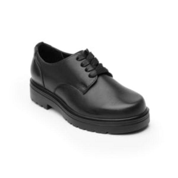 Oferta de Zapato Escolar Flexi Oxford Liso con Agujetas y Suela Gruesa para Niña Estilo 104103 Negro por $419.3
