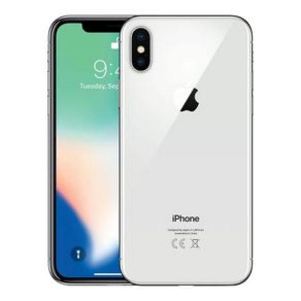 Oferta de Teléfono iPhone X 64 GB Plata Liberado Reacondicionado por $8697