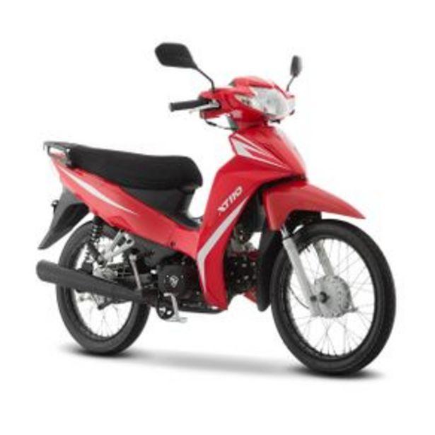 Oferta de Motocicleta Semiautomática Italika Rojo - Negro X110 por $14999