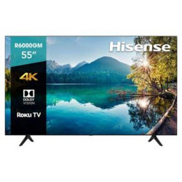 Oferta de Pantalla Hisense Smart TV 4K 55P Negro 55R6000GM por $11999
