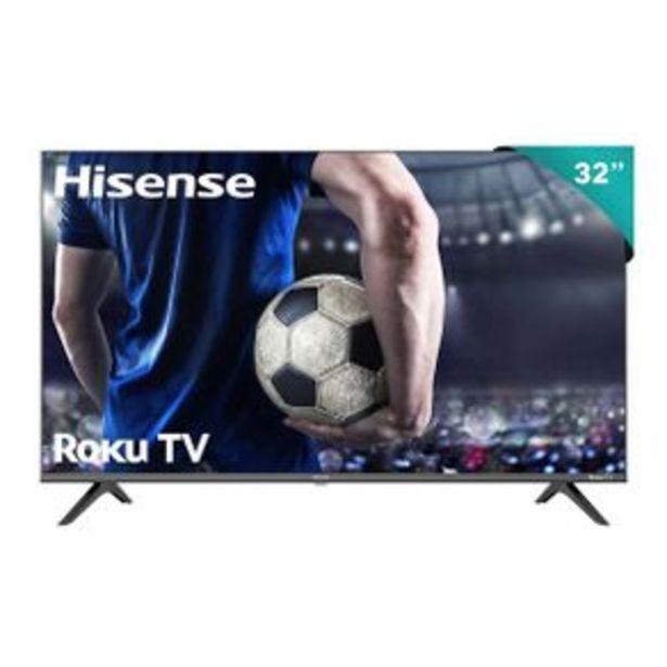 Oferta de Pantalla Hisense HD Smart TV LED 32P Roku 32H4000GM por $4769