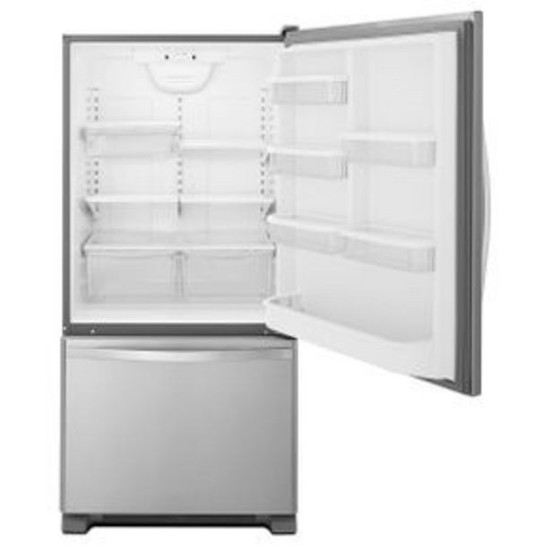 Oferta de Refrigerador Whirlpool Bottom Mount 22P Silver WRB322DMBM por $34199