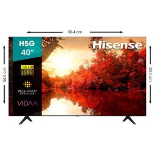 Oferta de Pantalla Hisense 40P Smart TV LED FHD 40H5G por $7299