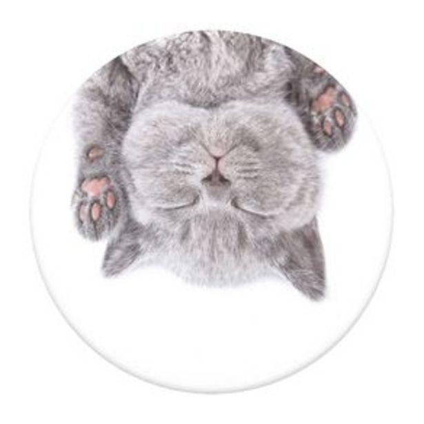 Oferta de Popsockets Sujetador Para Celular Gato Gris por $179