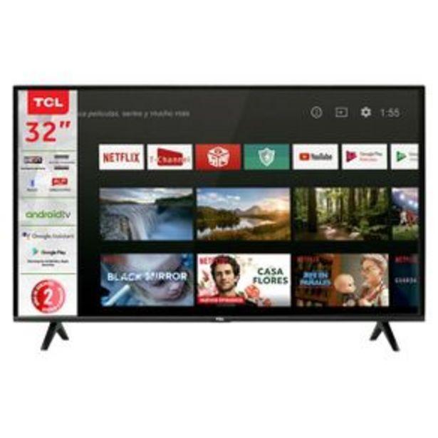 Oferta de Pantalla TCL 32P HD Smart TV 32A325 por $4499