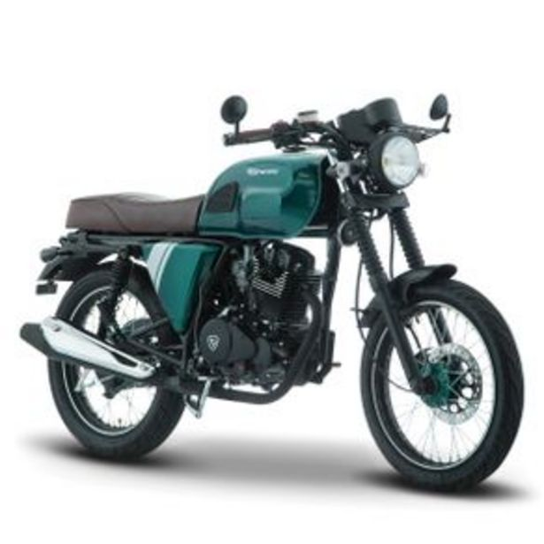 Oferta de Motocicleta Racer Italika Verde - Café Sptfire 200 por $29999