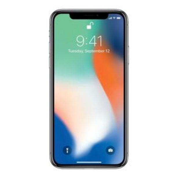 Oferta de Teléfono iPhone X Plata 256 GB Reacondicionado por $9497