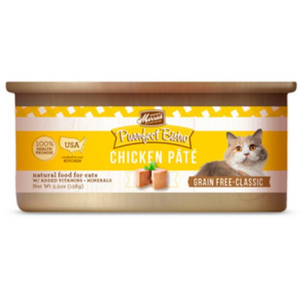 Oferta de Merrick Purrfect Bistro Alimento Húmedo sin Granos para Gato Adulto Receta Pollo, 156 g por $44