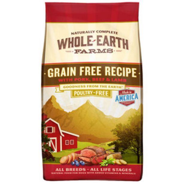 Oferta de Whole Earth Farms Alimento Natural sin Granos para Perro Todas las Edades Receta Res y Cordero, 11.3 kg por $700