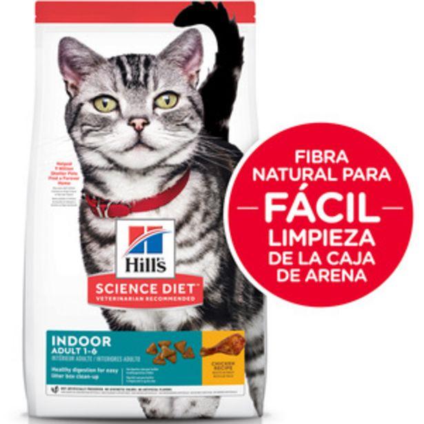 Oferta de Hill's Science Diet Alimento Seco para Gato Adulto de Interior Receta Pollo, 7 kg por $1280
