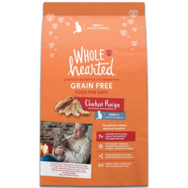 Oferta de WholeHearted Libre de Granos Alimento Natural para Gato Senior Receta Pollo, 5.4 kg por $616