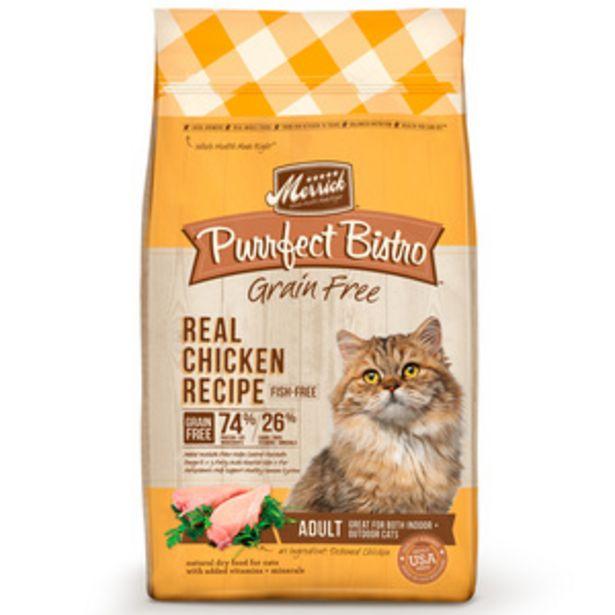 Oferta de Merrick Purrfect Bistro Alimento Natural sin Granos para Gato Adulto Receta Pollo y Camote, 5.4 kg por $1000