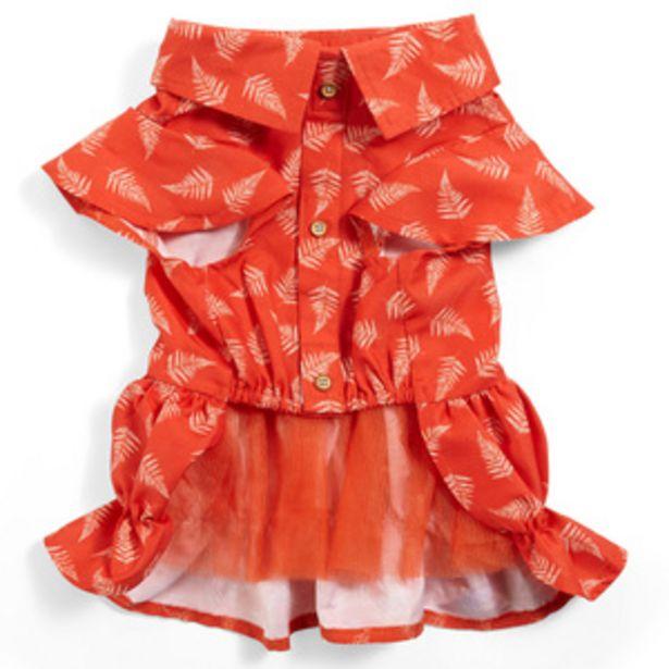 Oferta de Youly Vestido Rojo con Plumas para Perro, Mediano por $50