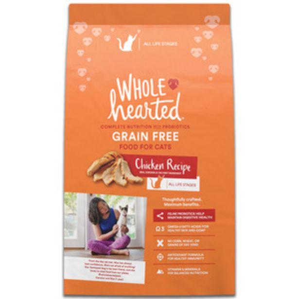 Oferta de WholeHearted Libre de Granos Alimento Natural para Gato Todas las Edades Receta Pollo, 5.4 kg por $616