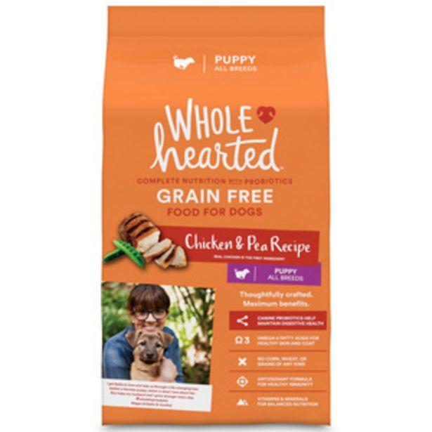 Oferta de WholeHearted Libre de Granos Alimento Natural para Cachorro Todas las Razas Receta Pollo y Chícharo, 6 kg por $572