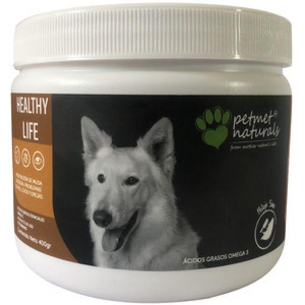 Oferta de Petmet Naturals Healthy Life Complemento Alimenticio Natural para Cuidado de Piel y Pelo para Perro, 400 g por $343.2
