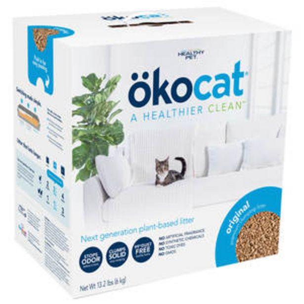 Oferta de Okocat Arena Aglutinante Biodegradable Formula Original para Gato, 6 kg por $374.25