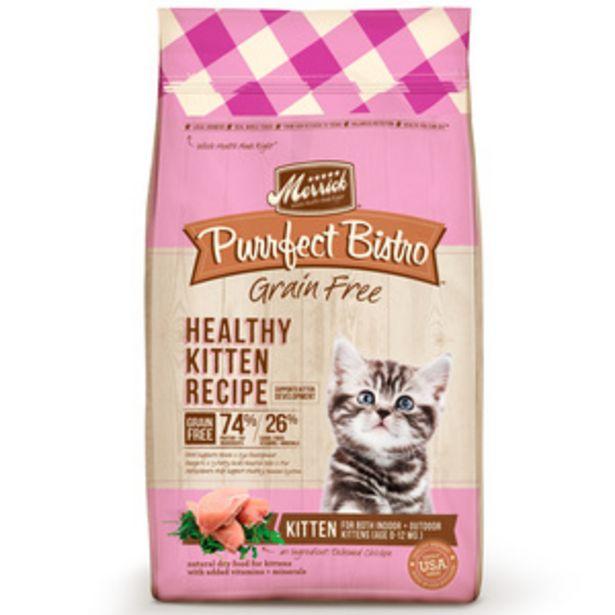 Oferta de Merrick Purrfect Bistro Alimento Natural sin Granos para Gatito Receta Pollo, 3.1 kg por $600