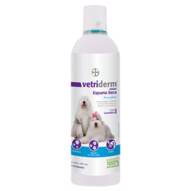 Oferta de Vetriderm Espuma Baño en Seco para Perro y Gato, 400 ml por $178.5