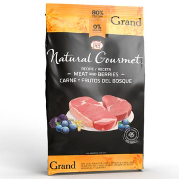 Oferta de Natural Gourmet Alimento Natural para Perro Adulto Raza Mediana/Grande Receta Carne y Frutos del Bosque, 15 kg por $1904