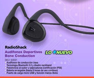 Oferta de Audifonos deportivos Radioshack por