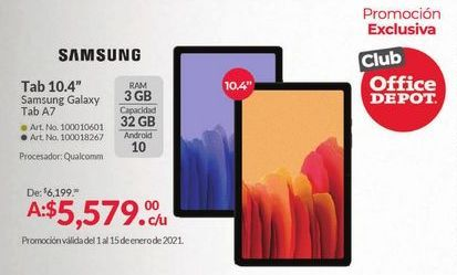 Oferta de Tablet Android Samsung por $5579