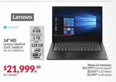 Oferta de Laptop Lenovo por $21999