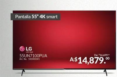 """Oferta de Smart TV  55"""" 4k LG por $14879"""
