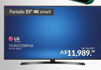 Oferta de Smart tv led 55'' 4K LG por $11989