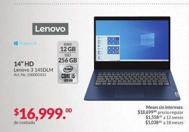 Oferta de Laptop Lenovo por $16999