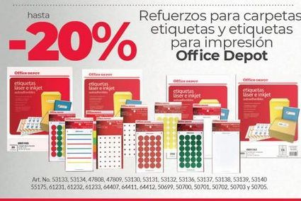 Oferta de -20% carpetas Office Depot por
