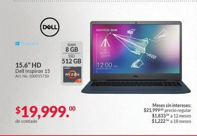 Oferta de Laptop Dell por $19999