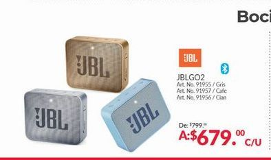 Oferta de Bocinas bluetooth JBL por $679
