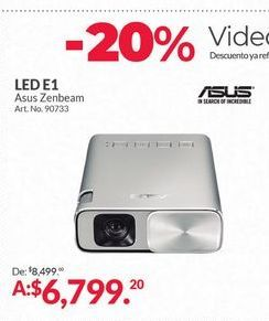 Oferta de -20% Proyectores Asus por $6799.2