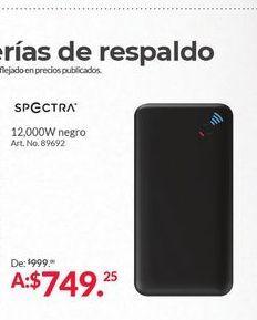 Oferta de Batería externa para tablet Spectra por $749.25