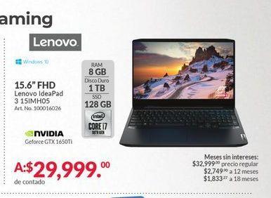 Oferta de Laptop Lenovo por $29999