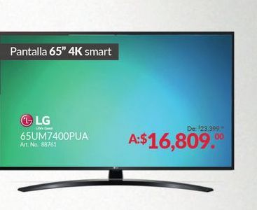 Oferta de Smart tv led LG por $16809