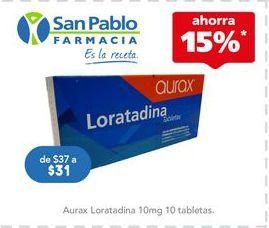 Oferta de Medicamentos AURAX por $31