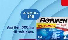 Oferta de Medicamentos Agrifen 500mg por $18